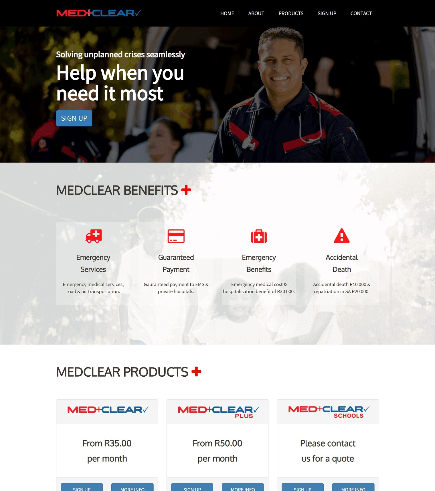 MedClear Website